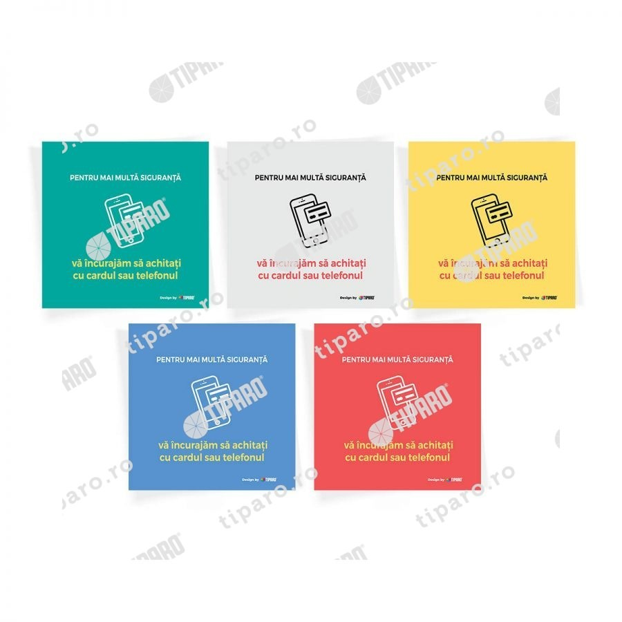 Stickere preventie horeca plata card 10 bucati 6