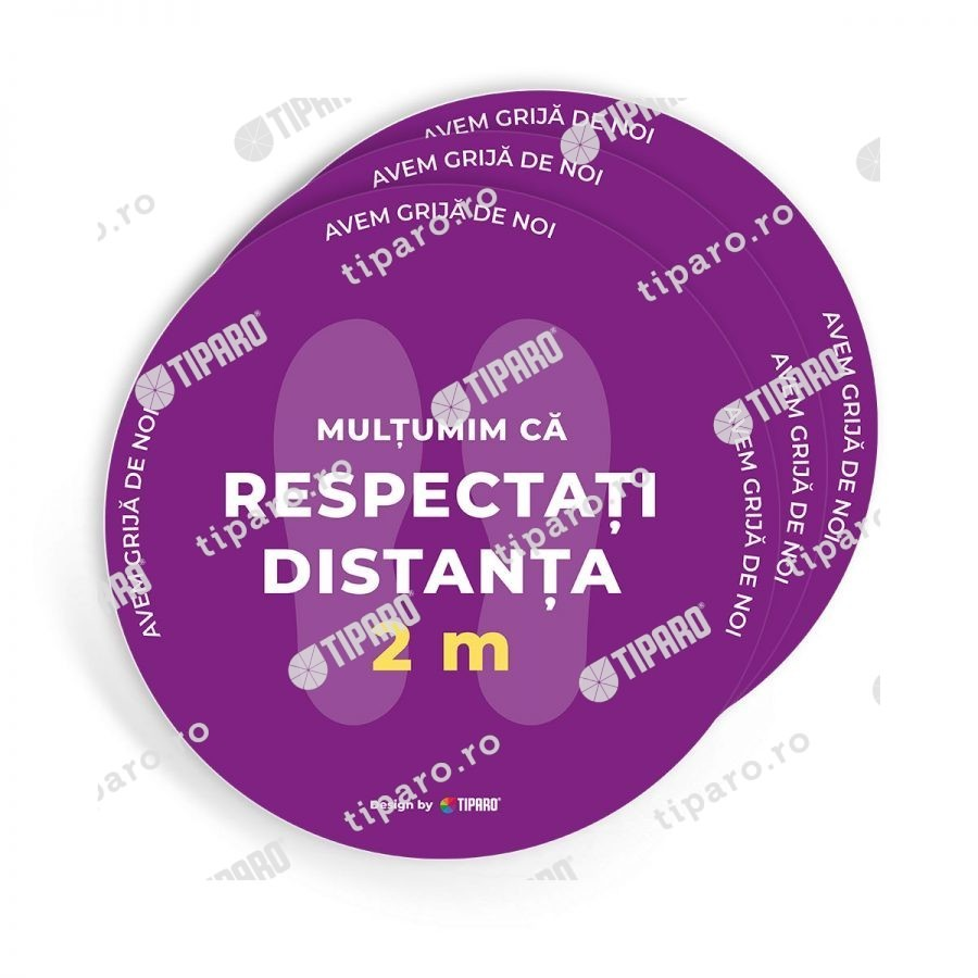 Stickere preventie salon Cerc distantare podea 3 bucati 3