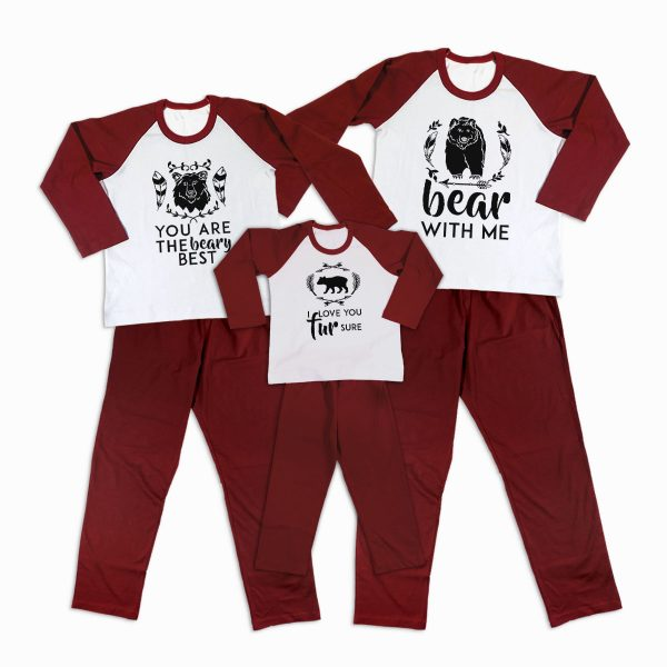 Pijamale Personalizate Familie Bear Love 1