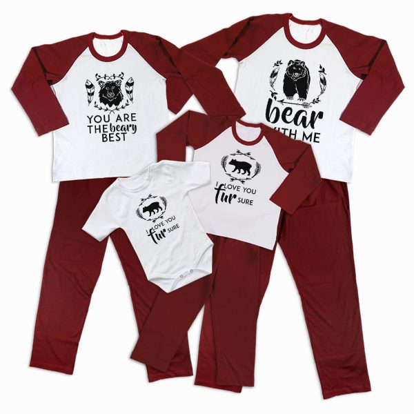 Pijamale Personalizate Familie Bear Love 2 1