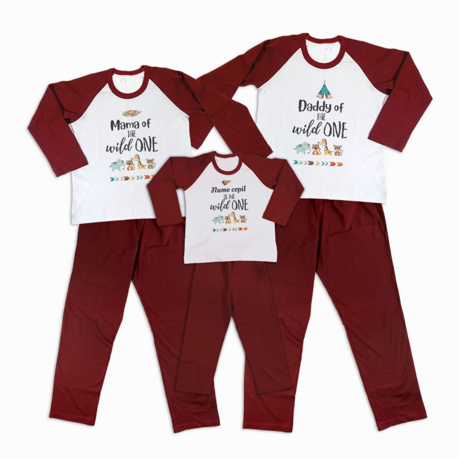 Pijamale Personalizate Familie The Wild One 1