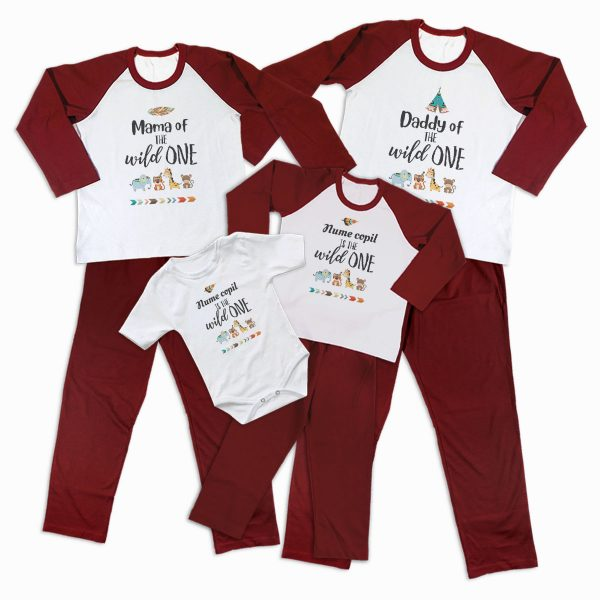 Pijamale Personalizate Familie The Wild One 2 1