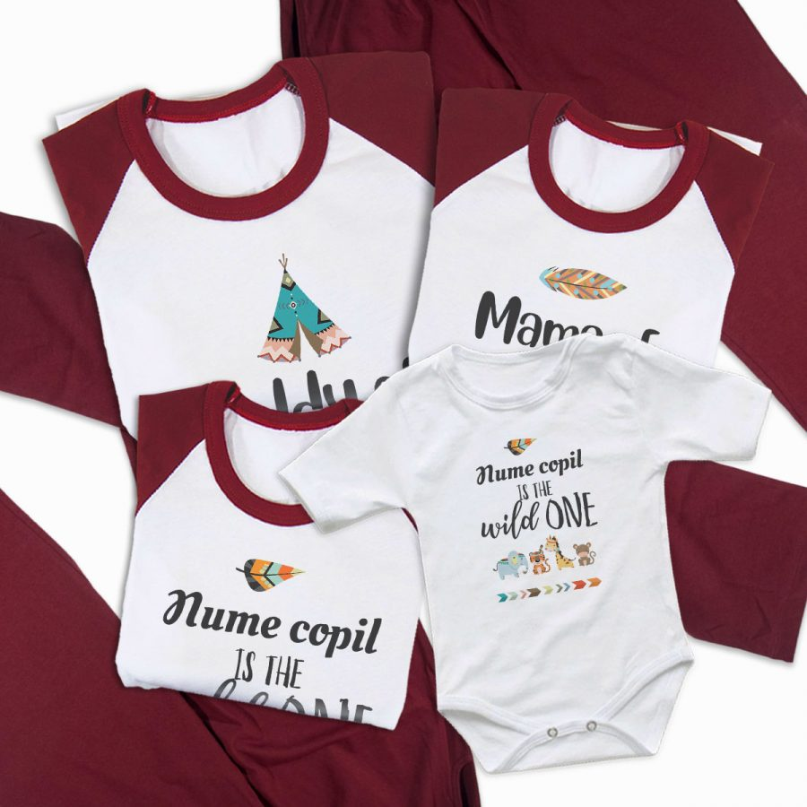 Pijamale Personalizate Familie The Wild One 2 2