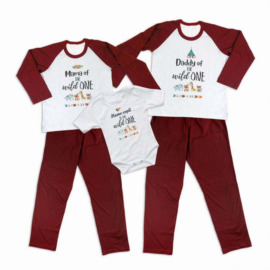 Pijamale Personalizate Familie The Wild One 2