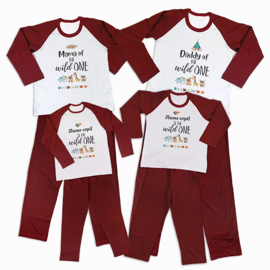 Pijamale Personalizate Familie The Wild One 3 1