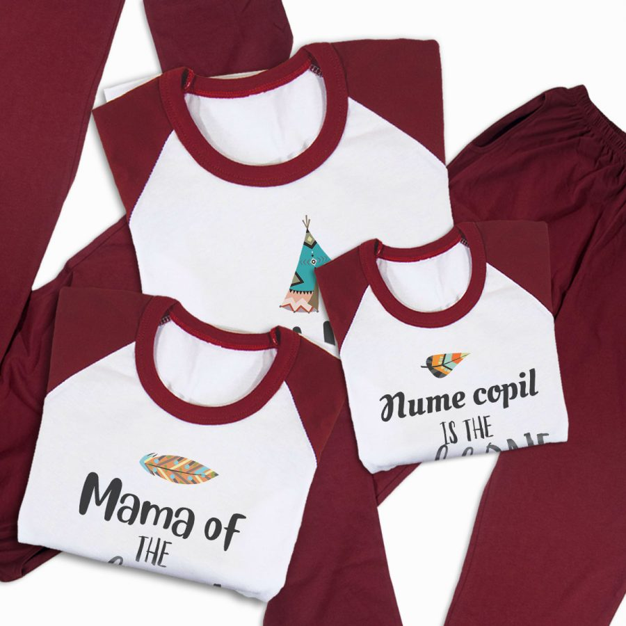 Pijamale Personalizate Familie The Wild One 3