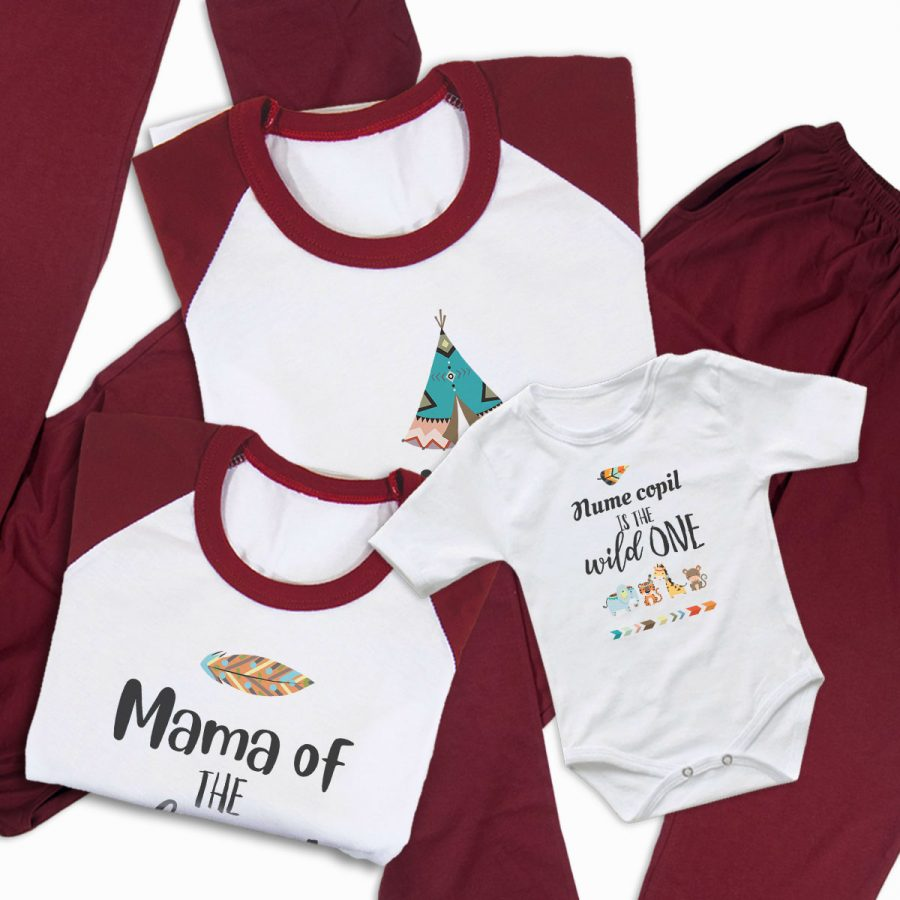Pijamale Personalizate Familie The Wild One 4