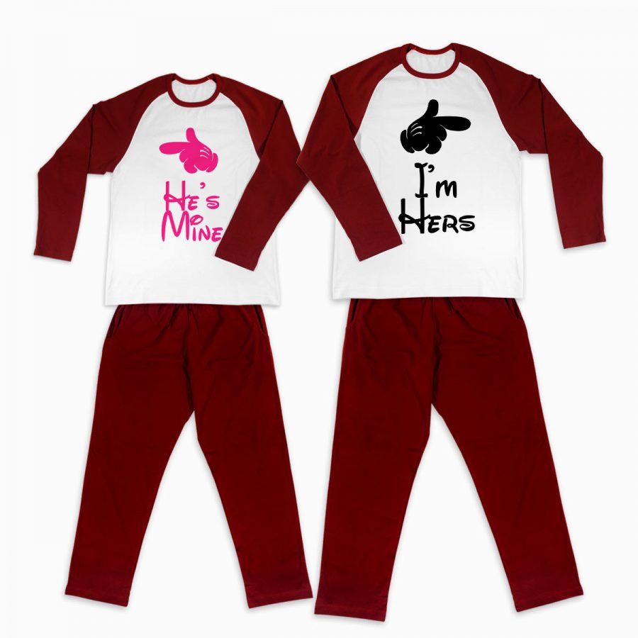 Pijamale personalizate cupluri You and Me 1