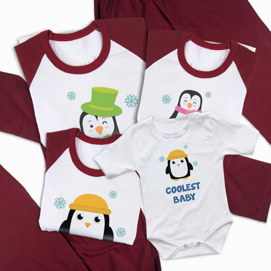 Pijamale Personalizate Familie Arctic Family 2 2