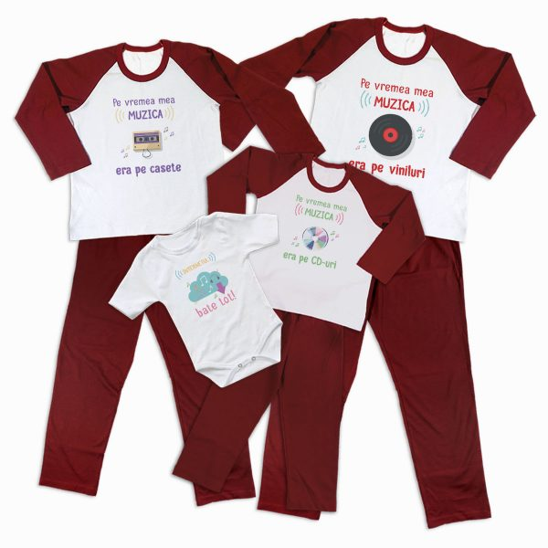 Pijamale Personalizate Familie Music Evolution 2 1