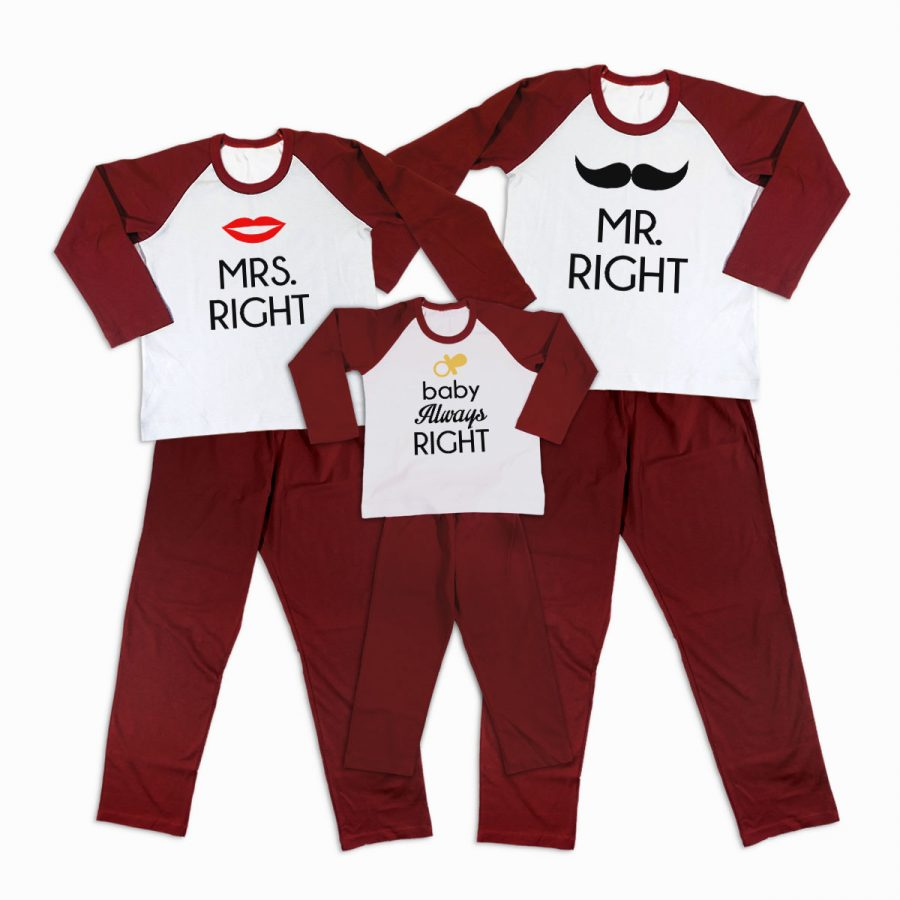 Pijamale Personalizate Familie Right Family 2