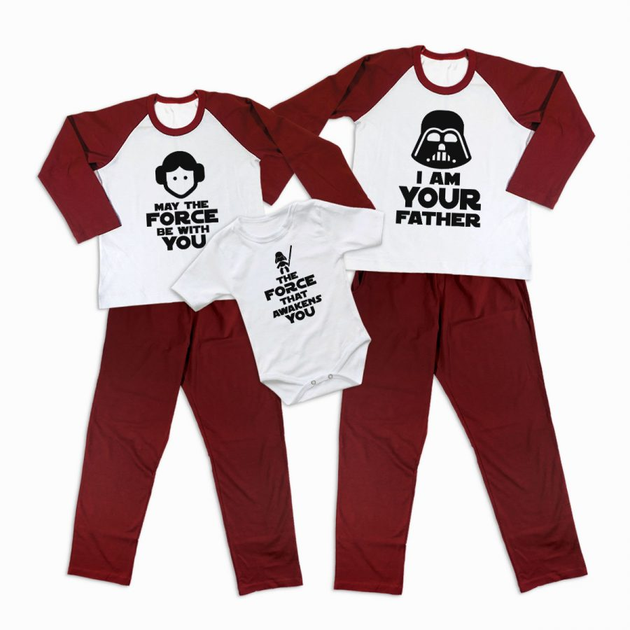 Pijamale Personalizate Familie The Force 1