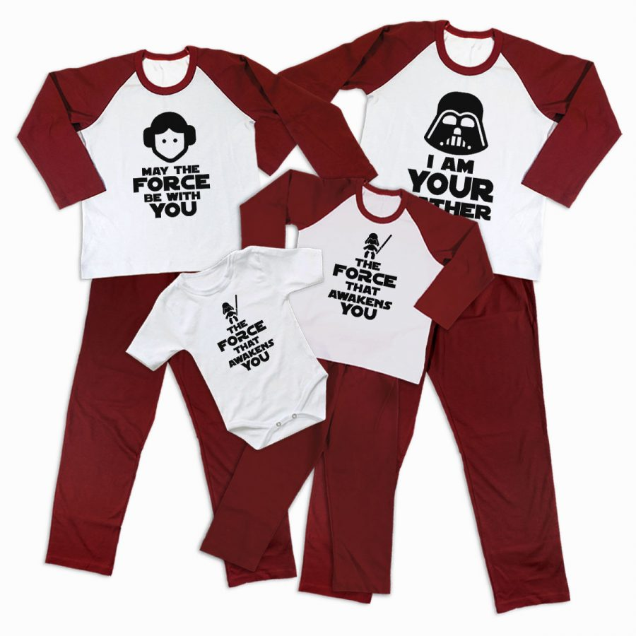 Pijamale Personalizate Familie The Force 2 1