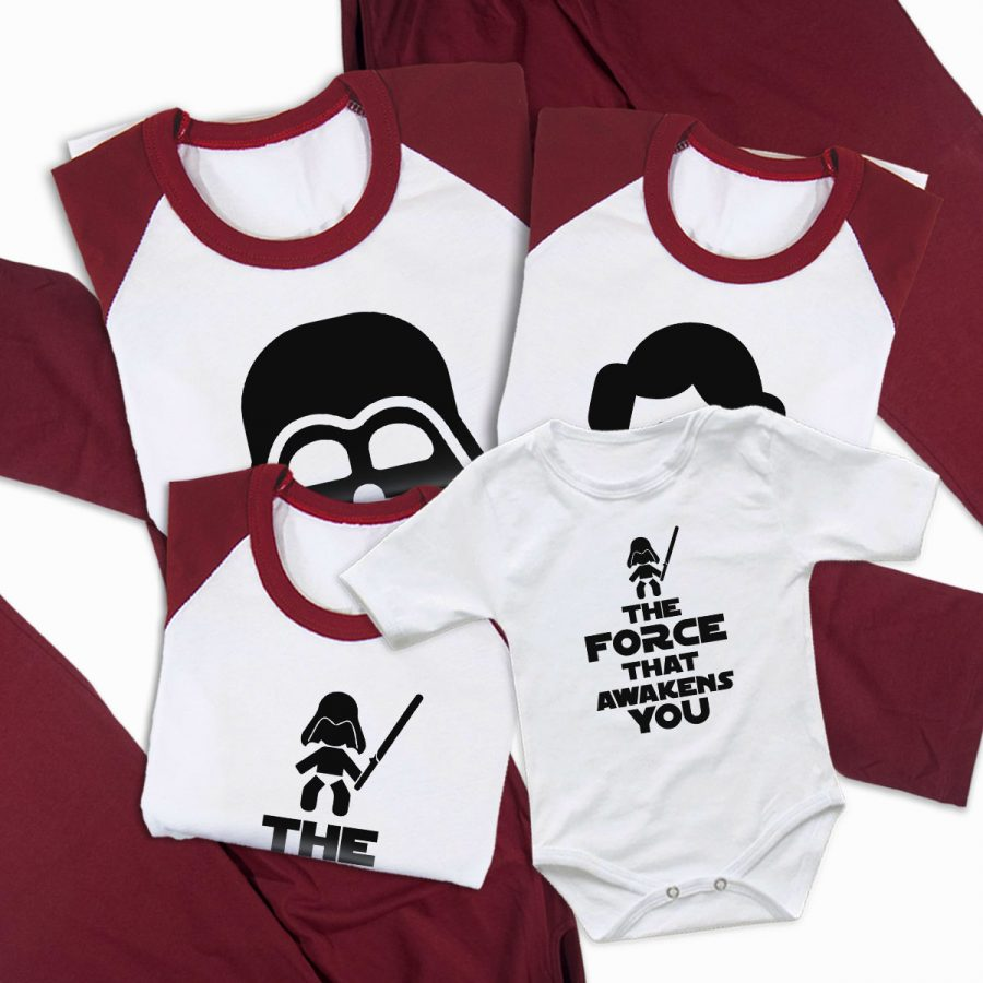 Pijamale Personalizate Familie The Force 2 2