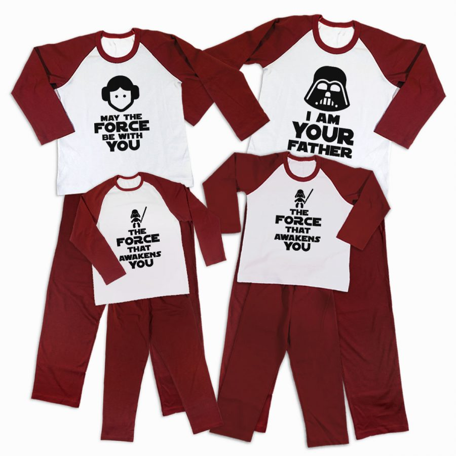 Pijamale Personalizate Familie The Force 3 1
