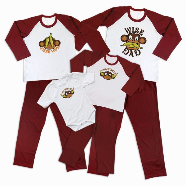 Pijamale Personalizate Familie Three Wise Monkeys 2 1