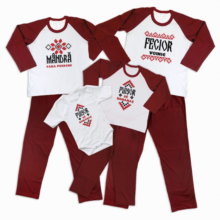 Pijamale Personalizate Familie Traditional 2 1