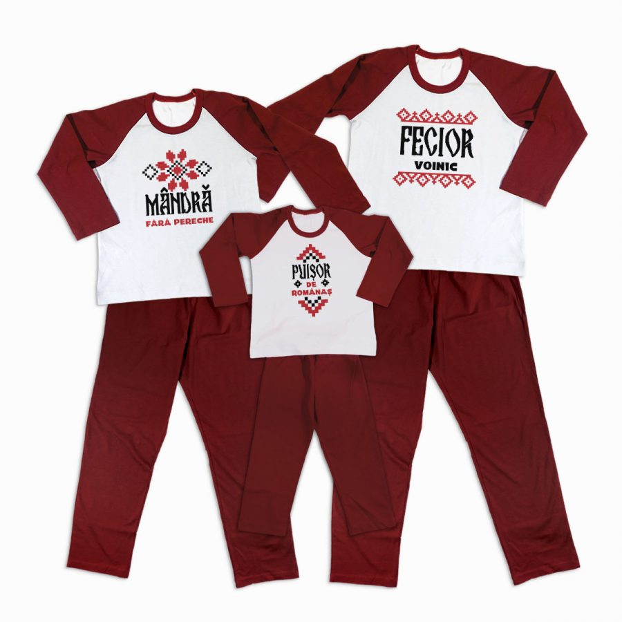 Pijamale Personalizate Familie Traditional 2