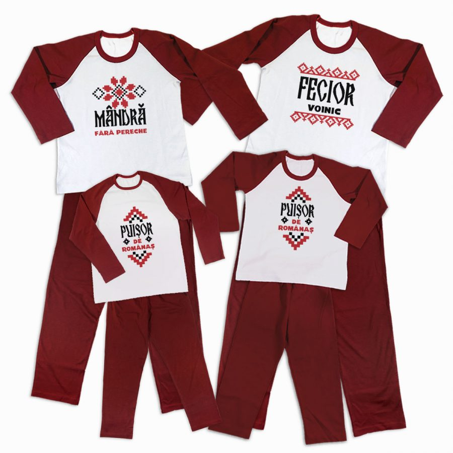 Pijamale Personalizate Familie Traditional 3 1