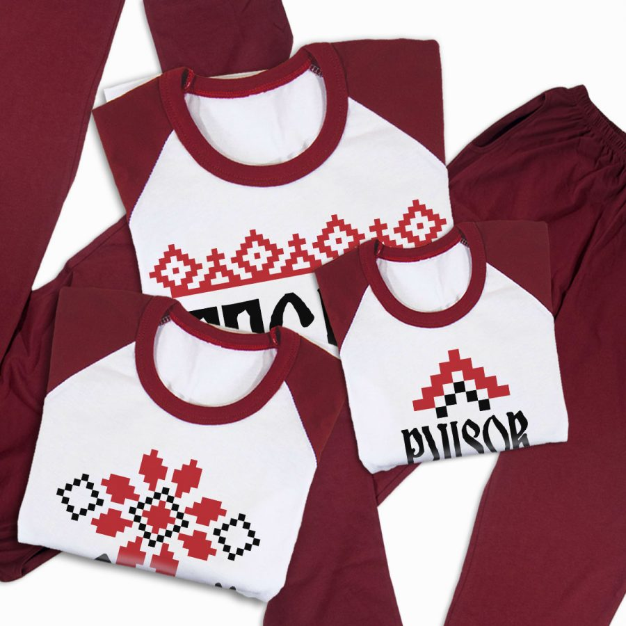Pijamale Personalizate Familie Traditional 3
