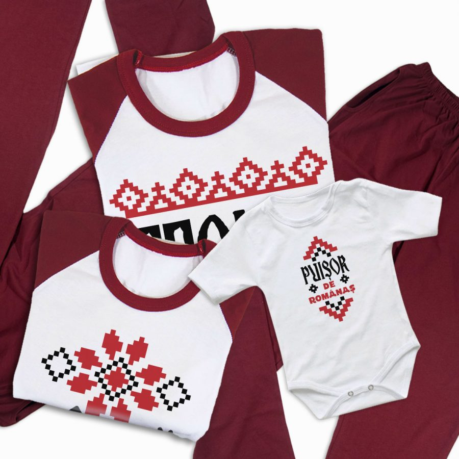 Pijamale Personalizate Familie Traditional 4