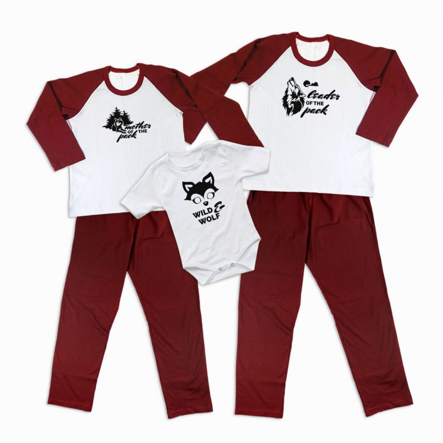 Pijamale Personalizate Familie Wolf Family 1