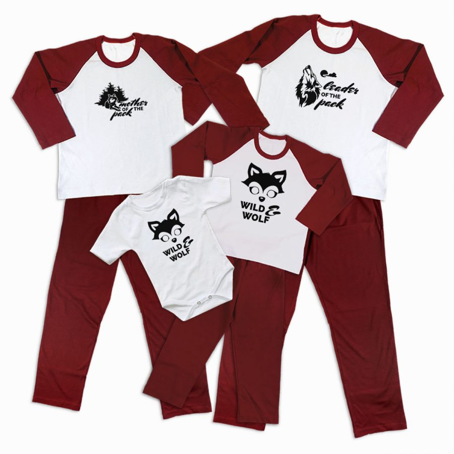 Pijamale Personalizate Familie Wolf Family 2 1