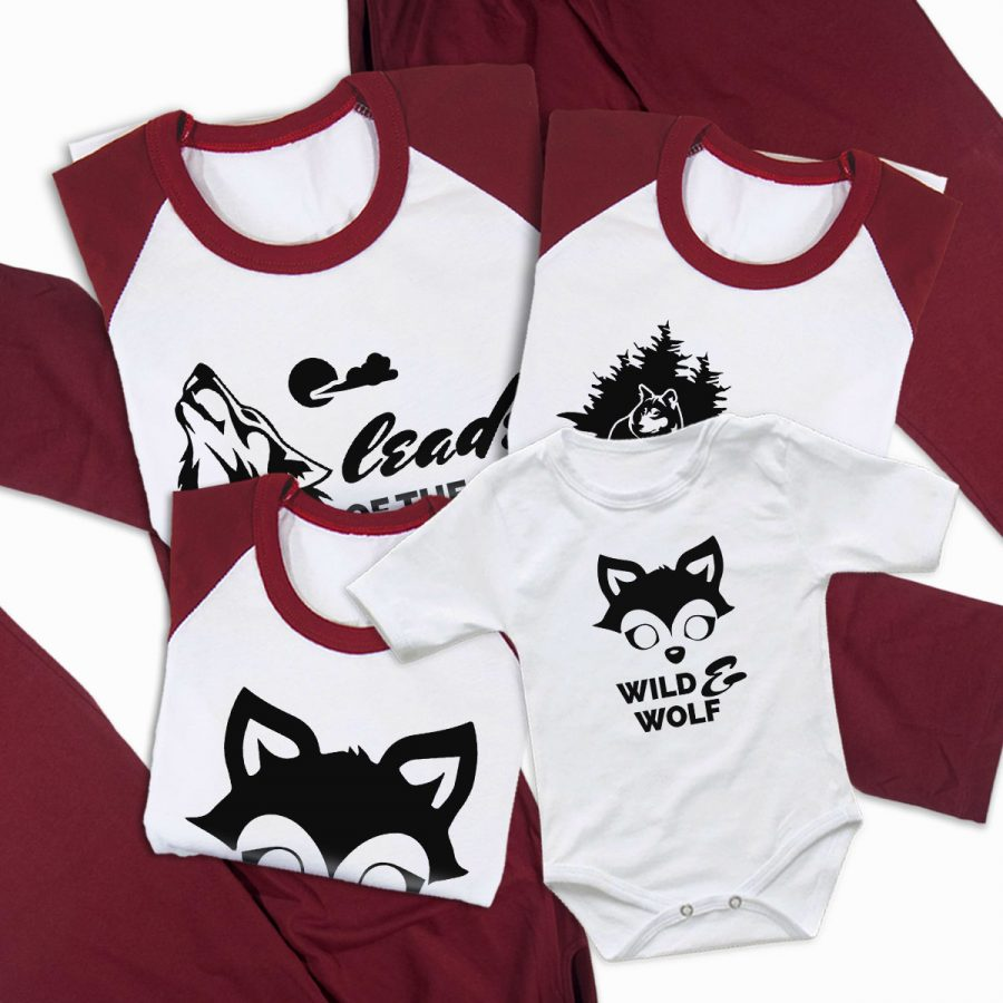 Pijamale Personalizate Familie Wolf Family 2 2