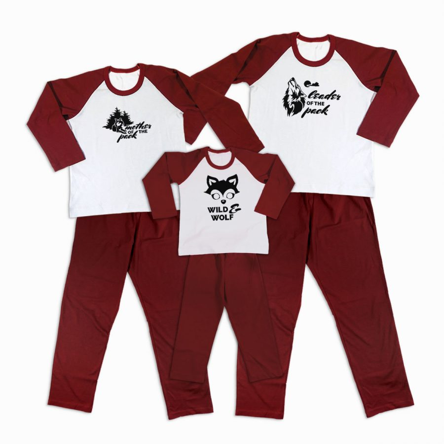 Pijamale Personalizate Familie Wolf Family 2