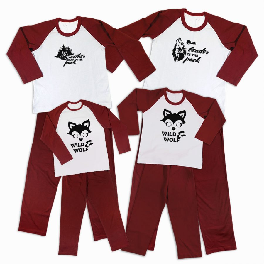 Pijamale Personalizate Familie Wolf Family 3 1